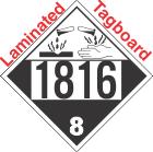 Corrosive Class 8 UN1816 Tagboard DOT Placard