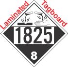 Corrosive Class 8 UN1825 Tagboard DOT Placard