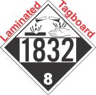 Corrosive Class 8 UN1832 Tagboard DOT Placard