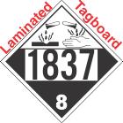 Corrosive Class 8 UN1837 Tagboard DOT Placard