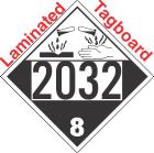 Corrosive Class 8 UN2032 Tagboard DOT Placard