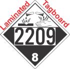Corrosive Class 8 UN2209 Tagboard DOT Placard