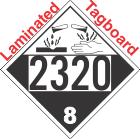 Corrosive Class 8 UN2320 Tagboard DOT Placard