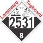 Corrosive Class 8 UN2531 Tagboard DOT Placard