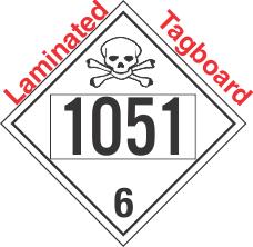 Poison Toxic Class 6.1 UN1051 Tagboard DOT Placard