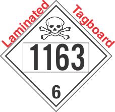 Poison Toxic Class 6.1 UN1163 Tagboard DOT Placard