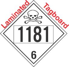 Poison Toxic Class 6.1 UN1181 Tagboard DOT Placard