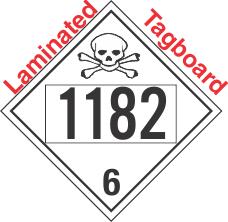 Poison Toxic Class 6.1 UN1182 Tagboard DOT Placard
