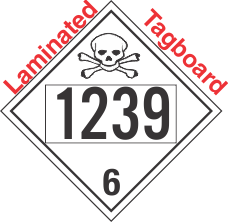 Poison Toxic Class 6.1 UN1239 Tagboard DOT Placard