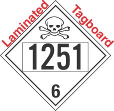 Poison Toxic Class 6.1 UN1251 Tagboard DOT Placard
