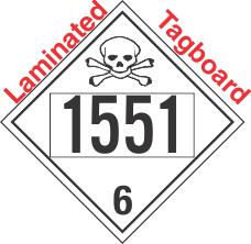 Poison Toxic Class 6.1 UN1551 Tagboard DOT Placard