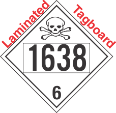 Poison Toxic Class 6.1 UN1638 Tagboard DOT Placard