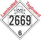 Poison Toxic Class 6.1 UN2669 Tagboard DOT Placard