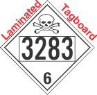 Poison Toxic Class 6.1 UN3283 Tagboard DOT Placard