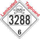 Poison Toxic Class 6.1 UN3288 Tagboard DOT Placard