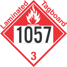 Combustible Class 3 UN1057 Tagboard DOT Placard