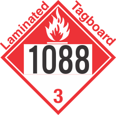 Combustible Class 3 UN1088 Tagboard DOT Placard