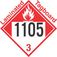 Combustible Class 3 UN1105 Tagboard DOT Placard