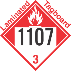 Combustible Class 3 UN1107 Tagboard DOT Placard