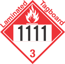 Combustible Class 3 UN1111 Tagboard DOT Placard