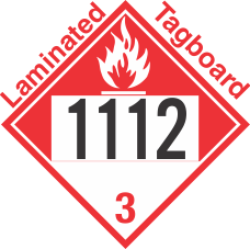Combustible Class 3 UN1112 Tagboard DOT Placard
