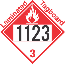 Combustible Class 3 UN1123 Tagboard DOT Placard