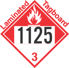 Combustible Class 3 UN1125 Tagboard DOT Placard