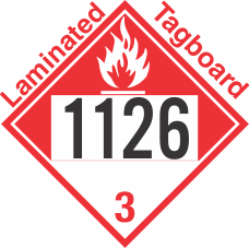 Combustible Class 3 UN1126 Tagboard DOT Placard