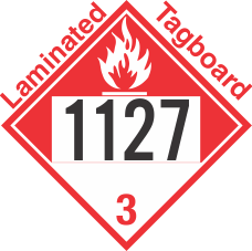 Combustible Class 3 UN1127 Tagboard DOT Placard