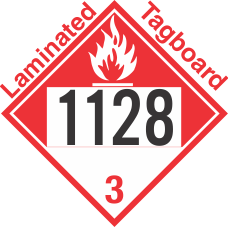 Combustible Class 3 UN1128 Tagboard DOT Placard