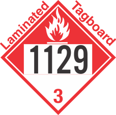 Combustible Class 3 UN1129 Tagboard DOT Placard