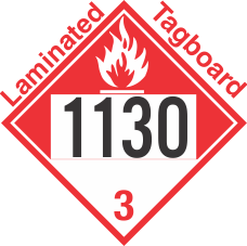 Combustible Class 3 UN1130 Tagboard DOT Placard