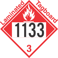Combustible Class 3 UN1133 Tagboard DOT Placard