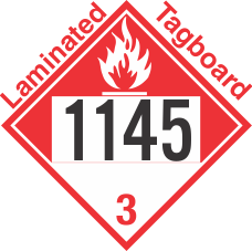 Combustible Class 3 UN1145 Tagboard DOT Placard