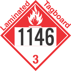 Combustible Class 3 UN1146 Tagboard DOT Placard