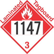 Combustible Class 3 UN1147 Tagboard DOT Placard
