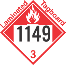 Combustible Class 3 UN1149 Tagboard DOT Placard