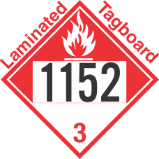 Combustible Class 3 UN1152 Tagboard DOT Placard