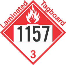 Combustible Class 3 UN1157 Tagboard DOT Placard