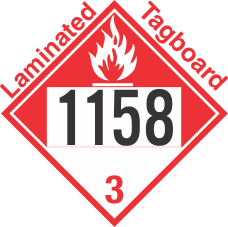 Combustible Class 3 UN1158 Tagboard DOT Placard
