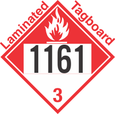 Combustible Class 3 UN1161 Tagboard DOT Placard