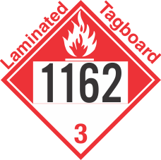 Combustible Class 3 UN1162 Tagboard DOT Placard