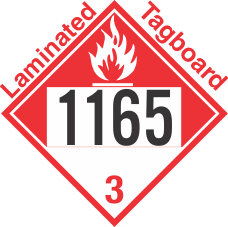 Combustible Class 3 UN1165 Tagboard DOT Placard