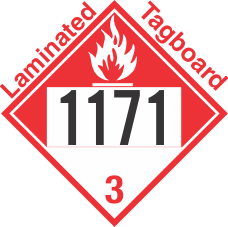 Combustible Class 3 UN1171 Tagboard DOT Placard