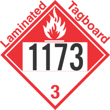 Combustible Class 3 UN1173 Tagboard DOT Placard