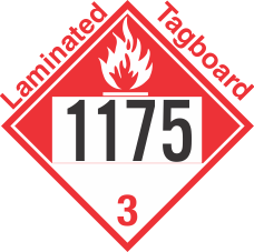Combustible Class 3 UN1175 Tagboard DOT Placard