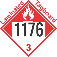Combustible Class 3 UN1176 Tagboard DOT Placard