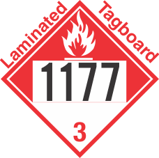 Combustible Class 3 UN1177 Tagboard DOT Placard