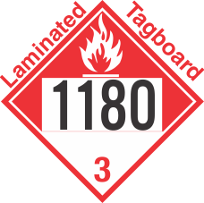 Combustible Class 3 UN1180 Tagboard DOT Placard