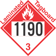 Combustible Class 3 UN1190 Tagboard DOT Placard
